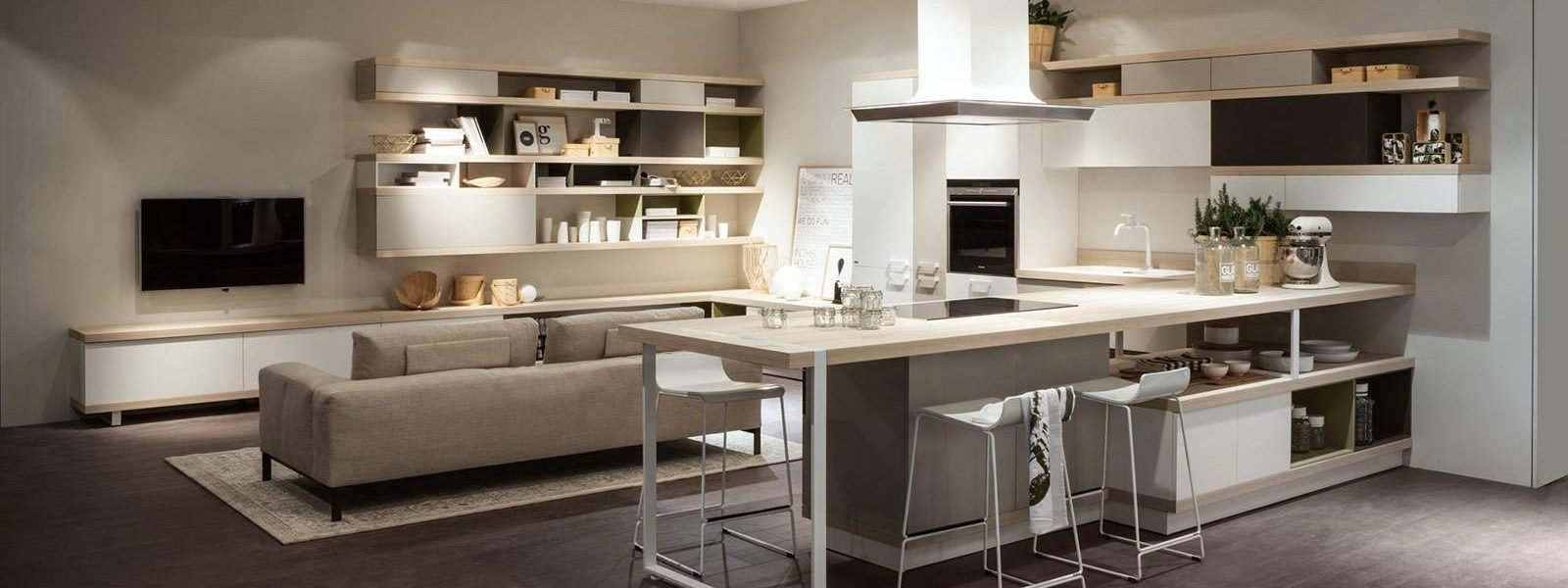 Foodshelf di ora to giulio rossi group - Zona living con cucina ...